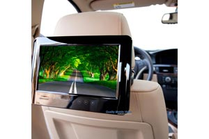 Attachable DVD headrests for Active Headrests