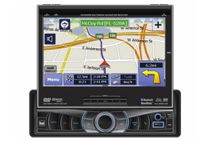 In Dash Monitor with GPS Navigation