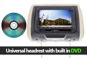 Universal DVD Headrest