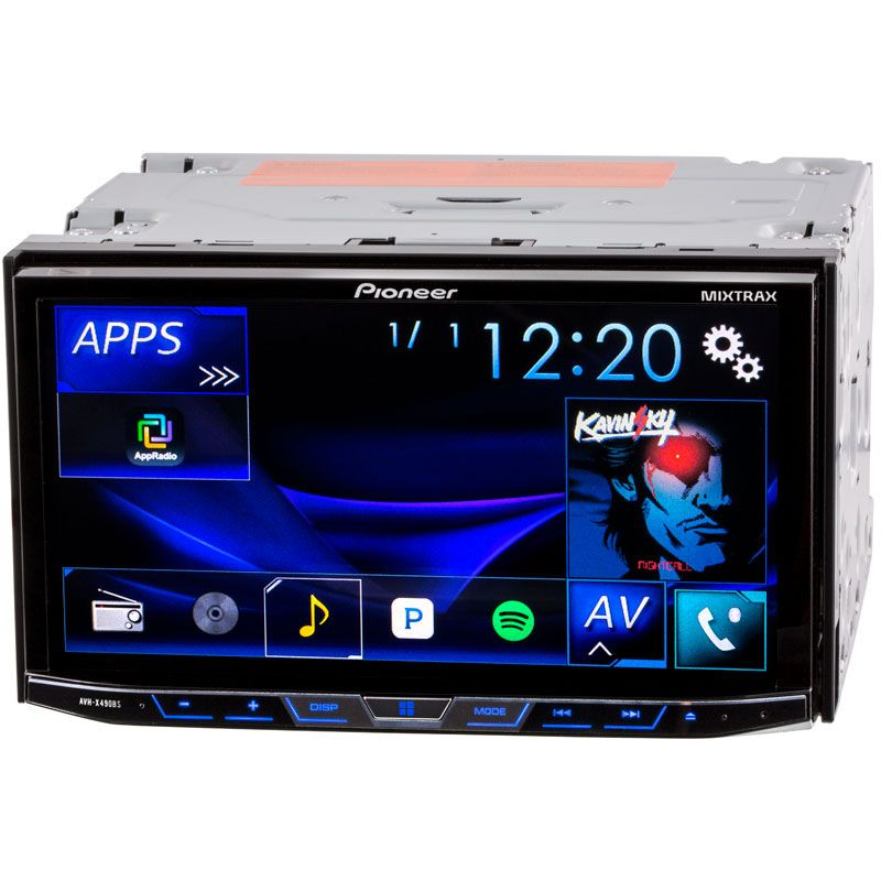Pioneer Avh X490bs 7 Inch Double Din Car Stereo Receiver With Bluetooth Mixtrax And Sirius Xm Ready