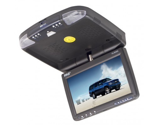 """DISCONTINUED - Pyle PLRD92  9.2"""" Overhead Flip Down Monitor with Built in DVD Player"""