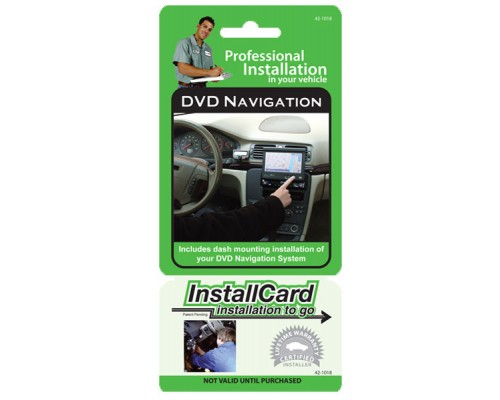 Installcard 42-1018 DVD Navigation InstallCard