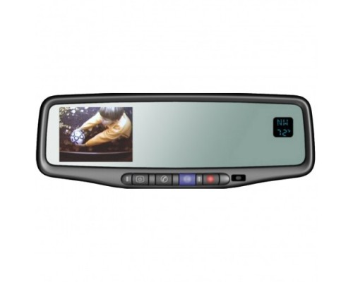 """GM Factory Mirror with 3.5"""" Backup Monitor, Compass and Temperature Gauge 9002-9511A"""