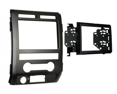 Metra 95-5822B Matte Black Dash Kit Turbokit Double DIN or Stacked ISO DIN Head Unit Ford F-150 Lariat and Platinum Editions 2009-2010 Vehicles