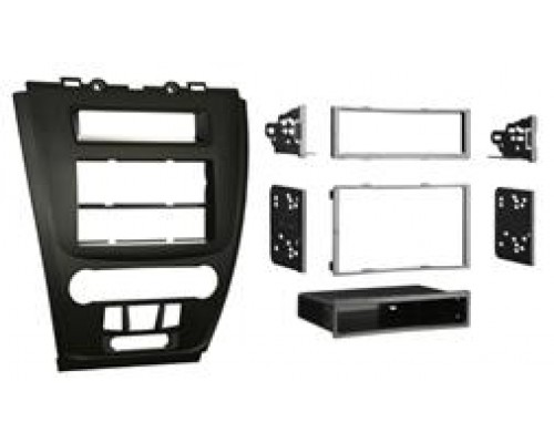 Metra 99-5821B Black Single or Double DIN Installation Kit for Ford and Mercury - Full Kit