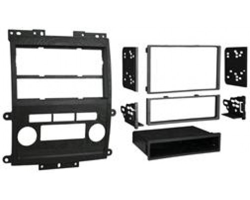 Metra 99-7428B Black Dash Kit Turbokit Single or Double DIN Nissan Frontier LE and SE 2009 with Options Vehicles (Excludes XE and SE W/No Options)