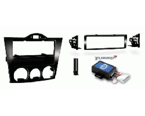 Metra 99-7510 Black Dash Kit Turbokit DIN Mazda RX-8 2004-2008 Vehicles (For Manual Climate Controls Only)