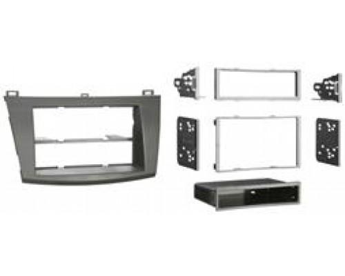 Metra 99-7514B Matte Black Dash Kit Turbokit Single or Double DIN Mazda 3 2010 Vehicles
