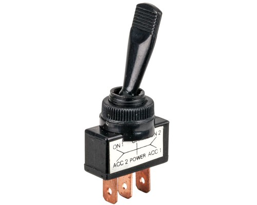 Accele 250 Black SPDT Toggle Switch - Main