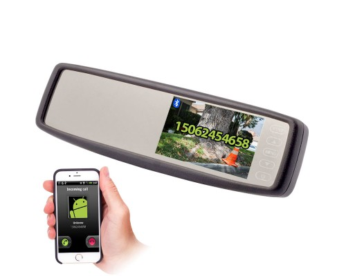 Accelevision RVM430BT 4.3 Inch Rearview mirror monitor with Bluetooth - Main