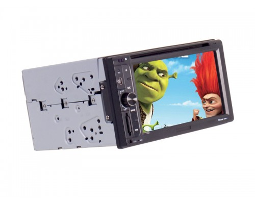 Accelevision DIN200 6.2 Inch Double DIN In Dash LCD Monitor with Built In Bluetooth, Touchscreen Controls and MP3 Cable