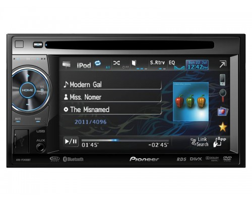 Pioneer AVH-P2400BT 2-DIN Multimedia DVD Reciever with 5.8 Inch Widescreen Touch Display, Built-In Bluetooth