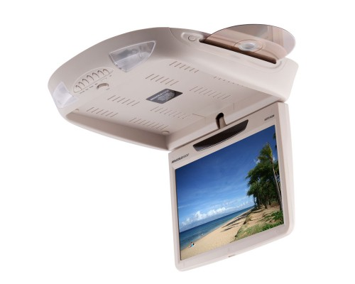 Accelevision AXFA102WT 10.2 inch Overhead DVD Player - Tan