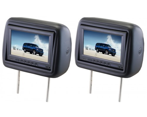 """DISCONTINUED - Zycom AXHR850 8.5"""" Dual headrest monitors with built in DVD players"""