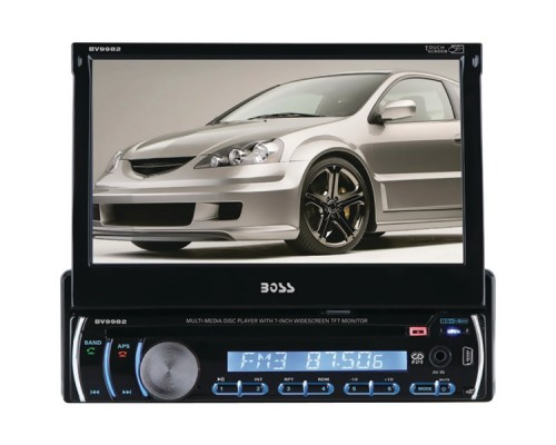 """DISCONTINUED - Boss Audio BV9982 7"""" Single-DIN Motorized Touchscreen TFT DVD Receiver with Fully Detachable Front Panel"""
