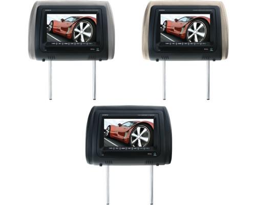 "Boss Audio HIR7BGTM 7"" Headrest Monitor with Built-in DVD Player & Dual Channel IR No DVD"