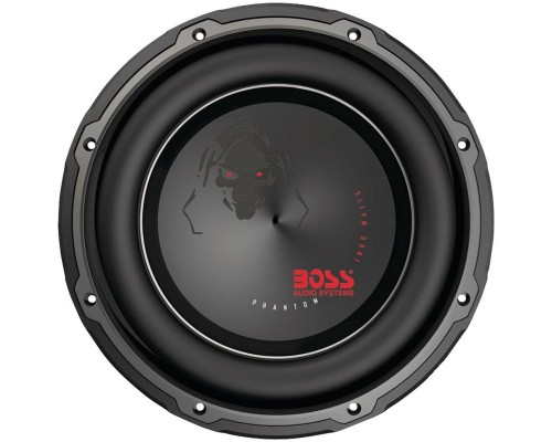 DISCONTINUED - Boss Audio P10-Dual Voice Coil Phantom Series Dual 4 Ohm Voice Coil Subwoofer with Electroplate Injection Cone 10 inch