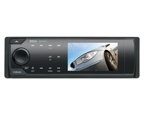 DISCONTINUED - Boss Audio BV7340 In Dash Single DIN 3.2 Inch Widescreen TFT LCD Monitor with Built In Multimedia DVD Receiver, Touch Panel Controls & Detachable Face