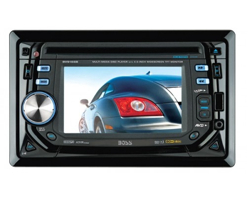 DISCONTINUED - Boss Audio BV9155B In Dash Double DIN 4.5 Inch Widescreen Touchscreen TFT LCD Monitor with Multimedia DVD Receiver, Detachable Face and Bluetooth