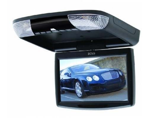 Boss Audio BV9FB 9 Inch Roof Mount Overhead Flip Down Swivel TFT LCD Monitor with Built-in IR Infrared Transmitter