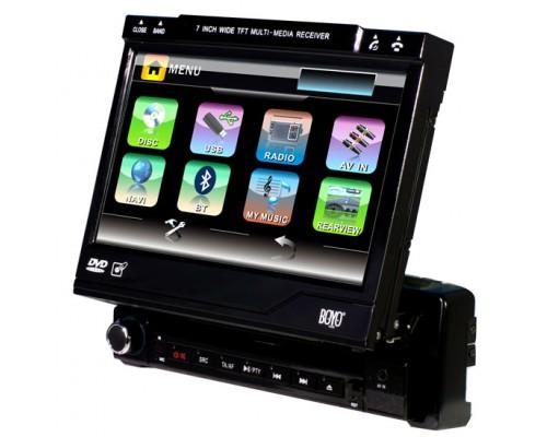DISCONTINUED - Boyo (Vision Tech) AVN701S Single DIN 7 Inch In Dash Motorized Touchscreen DVD Multimedia LCD Widescreen Monitor w Bluetooth, GPS Navigation, USB, SD