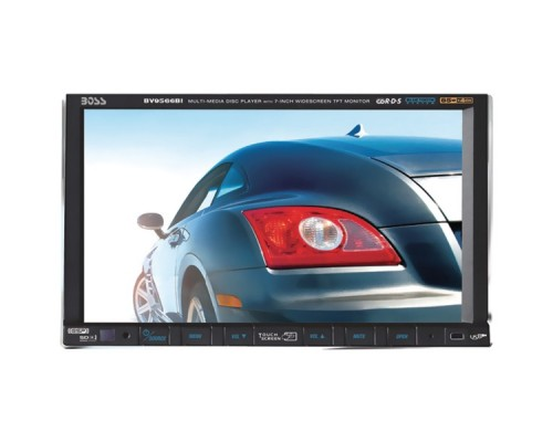"DISCONTINUED - Boss Audio BV9566BI 7"" Double-DIN Motorized Touchscreen TFT DVD Multimedia Receiver with Bluetooth and USB/SD Card Slot"