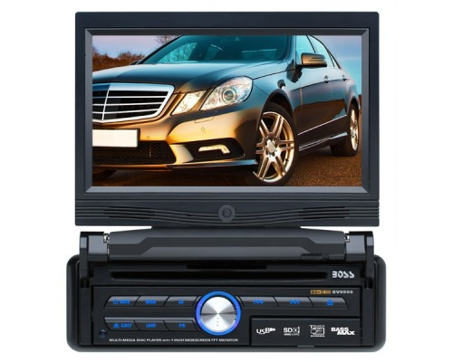 DISCONTINUED - Boss Audio BV9958B Single DIN 7 Inch Detachable LCD Widescreen Touchscreen In Dash Monitor - Bluetooth, 85w x 4 DVD Multimedia Receiver, USB, SD, AUX