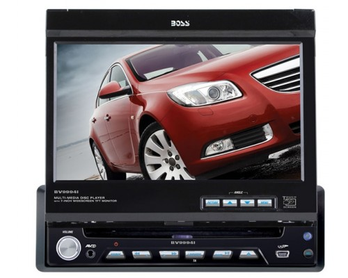 DISCONTINUED - Boss Audio BV9994i In Dash DVD Multimedia Receiver with Motorized 7 inch Touchscreen LCD Monitor, Detachable Face, USB, SD, AUX