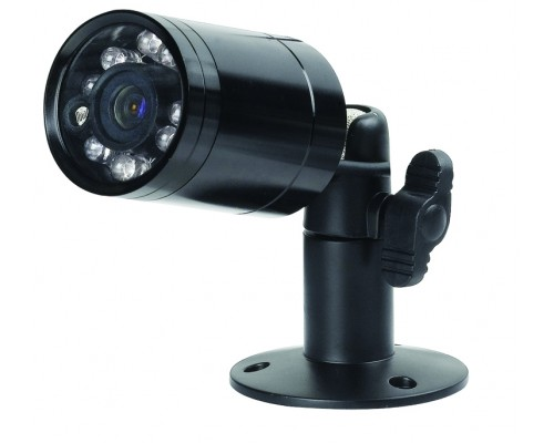 Discontinued - Power Acoustik CCD-3 1/3 Inch CCD 12 LEDs IR Infrared Night Vision 1-Lux Low Light Bullet Style Camera