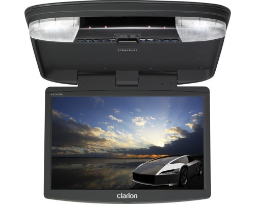 Discontinued---Clarion VT1510B 15.4 Inch Roof Mount Flip Down Widescreen LCD Monitor with DVD Multimedia Player, AUX, USB and SD