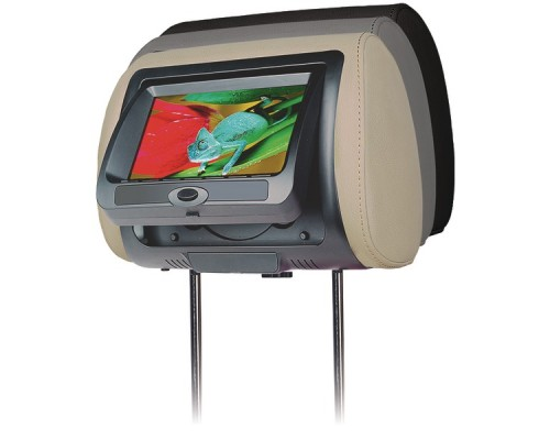 """DISCONTINUED - Concept CLD-700X 7"""" Chameleon Headrest with Digital LED Panel, Built-in DVD Player and Color Covers"""