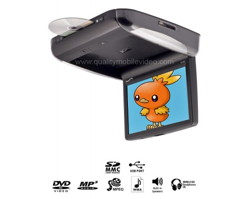 DISCONTINUED - Concept A102M Chameleon Motorized Overhead Roof Mount Flip Down 10.2 inch LCD Monitor with Built-in Multimedia DVD