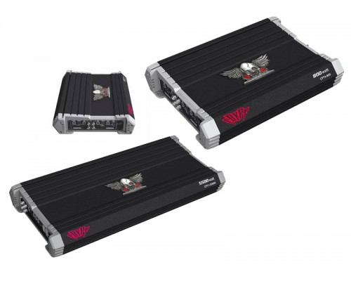 Discontinued - Power Acoustik CPT2-1500 Crypt Series 2 Channel 1500 Watt Class A/B Amplifier with Built In Crossover