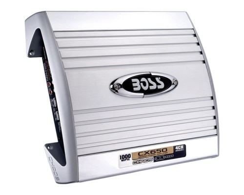 Discontinued - Boss CX650 CHAOS EXXTREME Series 1000-Watt 4-Channel MOSFET Bridgeable Amplifier with Remote Level Control