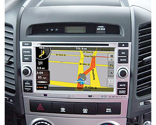 Rosen DS-HY0710-H11 2007 - 2008 Hyundai Santa Fe Replacement 7 Inch LCD In Dash Factory Monitor Multimedia Radio System with GPS Navigation Receiver