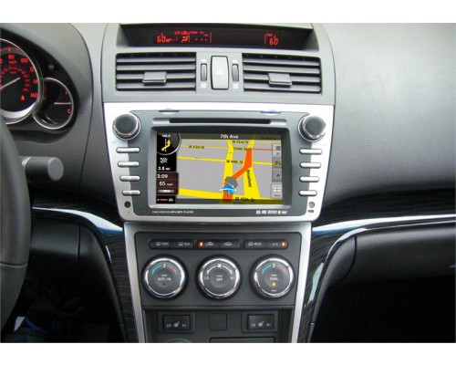 DISCONTINUED - Rosen DS-MZ0830-M11 Mazda 6 Replacement 7 Inch LCD In Dash Factory Monitor Multimedia Radio System with GPS Navigation Receiver