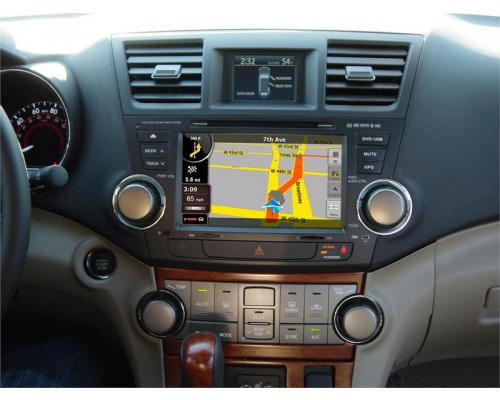 Rosen TY-6100-HIGHLANDER-17482 Toyota Highlander Replacement 8 Inch LCD In Dash Factory Monitor Multimedia Radio System GPS Navigation