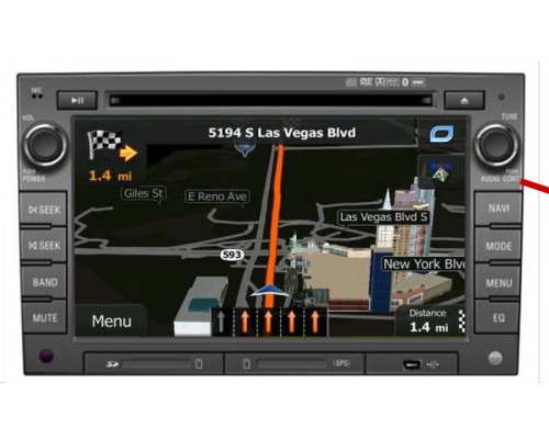 DISCONTINUED - Rosen DS-GM1010-11 GM Replacement 7 Inch LCD In Dash Factory Monitor Multimedia Radio System with GPS Navigation Receiver for Bose Audio system