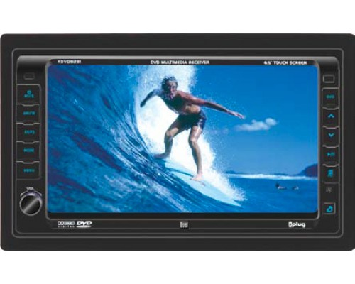 DISCONTINUED - Dual XDVD8281 In Dash 7 Inch Touchscreen Motorized TFT LCD Monitor 200 Watt Single DIN DVD Multimedia Player