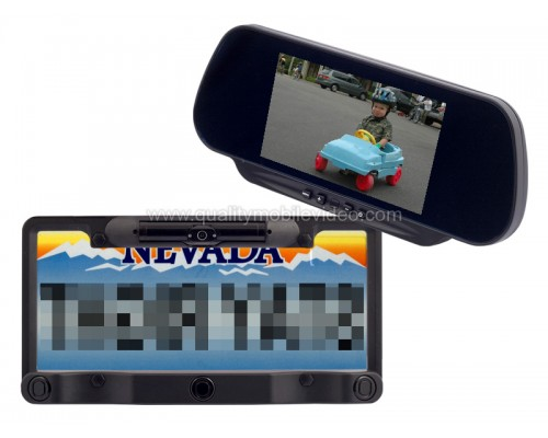 Discontinued - MV-RMLP5 6 inch LCD Rear View Mirror Monitor and Wireless License Plate Back Up Camera System