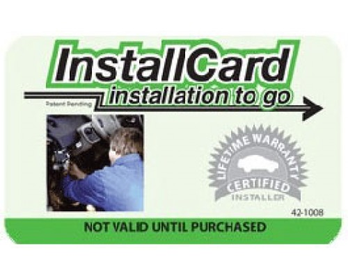 Prepaid Nationwide Installation 42-1008 Mobile Video Deluxe Install Card by Installernet.com