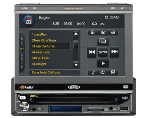 DISCONTINUED - Jensen VM9314 Single DIN In Dash 7 Inch LCD Monitor and Multimedia Receiver with USB, SD Card, Navigation and Bluetooth Capabilities
