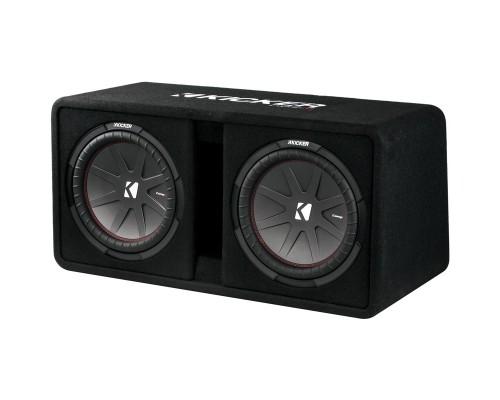 Kicker 43DCWR102 1,600 Watt Dual 10 inch CompR Ported Enclosure Subwoofer Box - Main