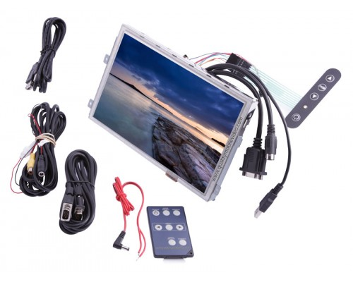 "DISCONTINUED - Accelevision LCD9WVGATS 9"" Raw LCD Module with VGA Touchscreen and 2 video inputs"