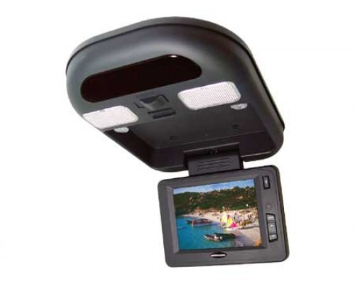 """DISCONTINUED - Accelevision LCDFD56F 5.6"""" Overhead Flip down monitor with infrared transmitter"""