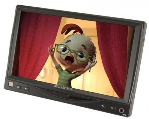 DISCONTINUED - Accelevision LCDP7IR 7 inch Universal Monitor with Headrest Shroud