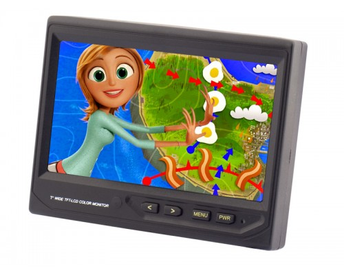 Accelevision LCDP7W 7 Inch Widescreen Headrest LCD Monitor