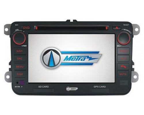 """Metra MDF-9011-1 In-Dash 7"""" Double DIN Touchscreen CD/MP3 Car Stereo Receiver w/ Navigation for Volkswagon Multi-Fit"""