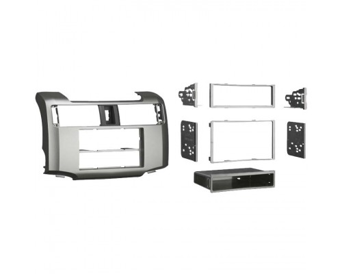 Metra 99-8227S Single or Double DIN Dash Kit for 2010 - and Up Toyota 4-Runner vehicles - Silver