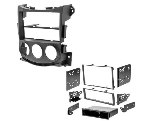 Metra 99-7607B Matte Black Dash Kit Turbokit Double DIN Nissan 370Z 2009 Vehicles